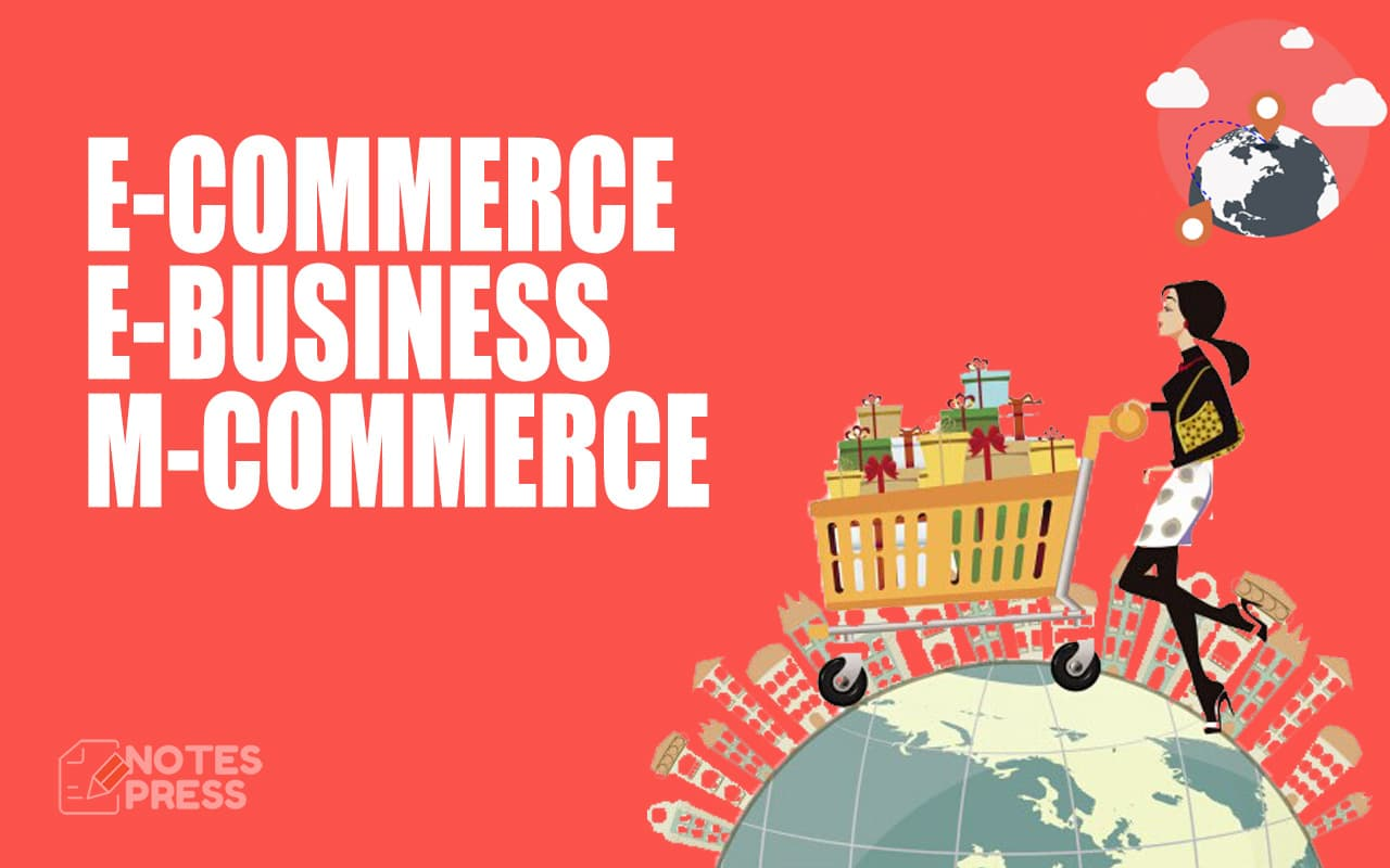 Explain E-Commerce, E-Business and M-Commerce